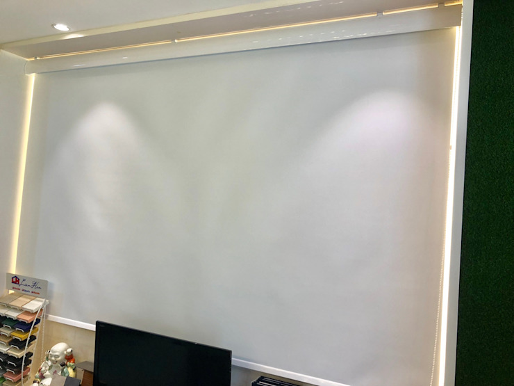 Roller Blind or Projection Screen by Window Essentials Textile Amber/Gold