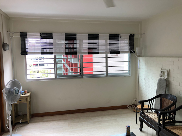 B&W Bamboo Blinds by Window Essentials Bamboo Green