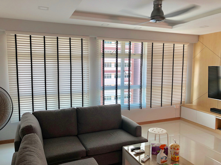 Black & White Venetian Blinds by Window Essentials Wood Wood effect