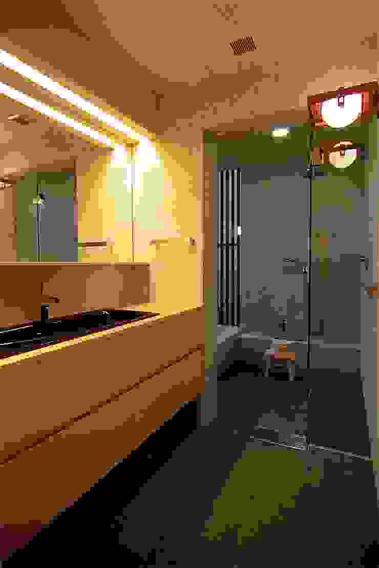 洗面 Sデザイン設計一級建築士事務所 オリジナルスタイルの お風呂 石 緑