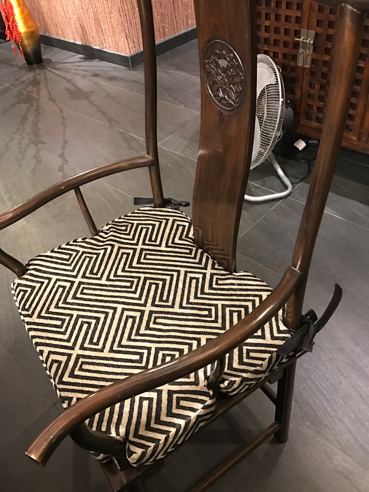 Dining Chairs: modern  by Window Essentials,Modern Textile Amber/Gold