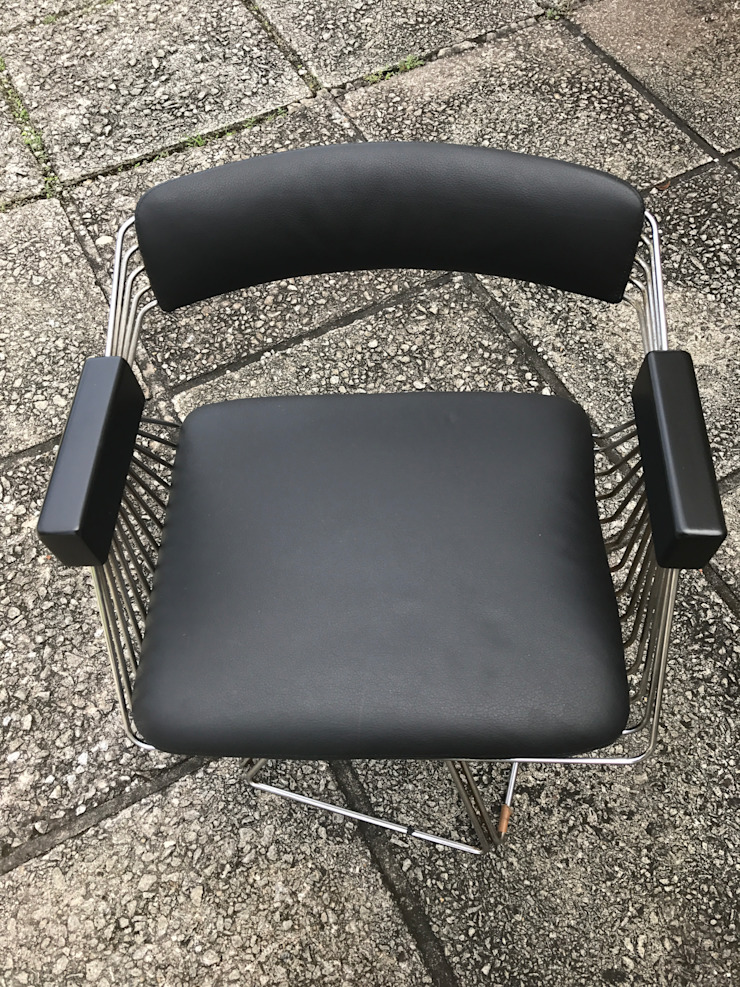 Genuine Leather Dining Chairs: modern  by Window Essentials,Modern Leather Grey