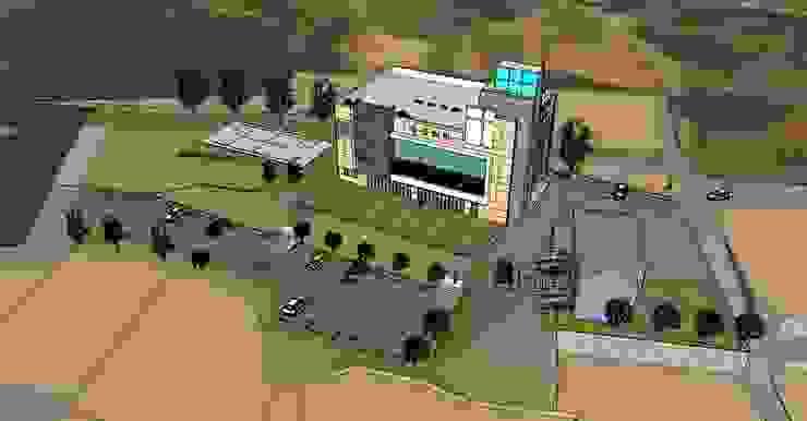 청주 신성교회 계획안: 건축사사무소 이레EL의 현대 ,모던