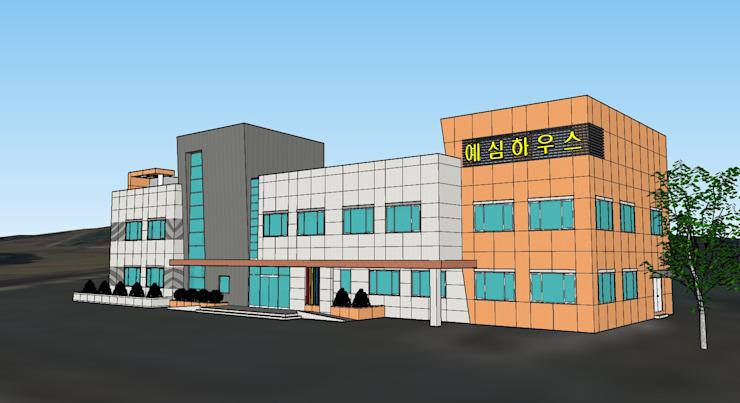 청주 00복지재단: 건축사사무소 이레EL의 현대 ,모던