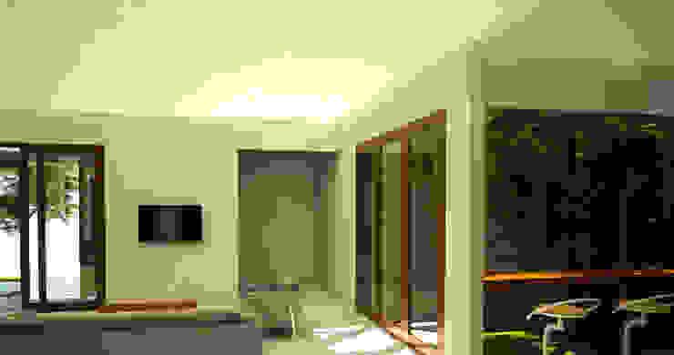 Daylight House Ruang Keluarga Tropis Oleh AIGI Architect + Associates Tropis Batu