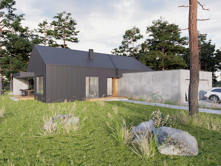 4Q DEKTON Pracownia Architektoniczna Single family home Iron/Steel Black