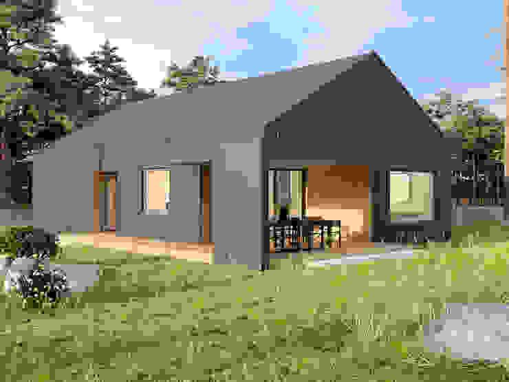 4Q DEKTON Pracownia Architektoniczna Modern home Wood