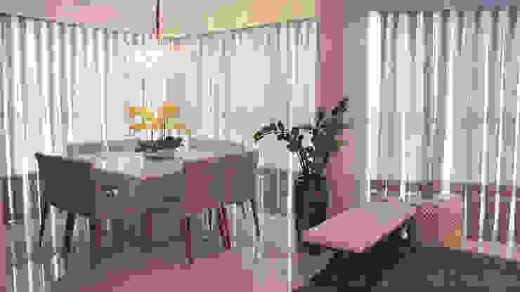 Living integrado - sala de jantar e lounge bar PANORAMA Arquitetura & Interiores Salas de jantar ecléticas