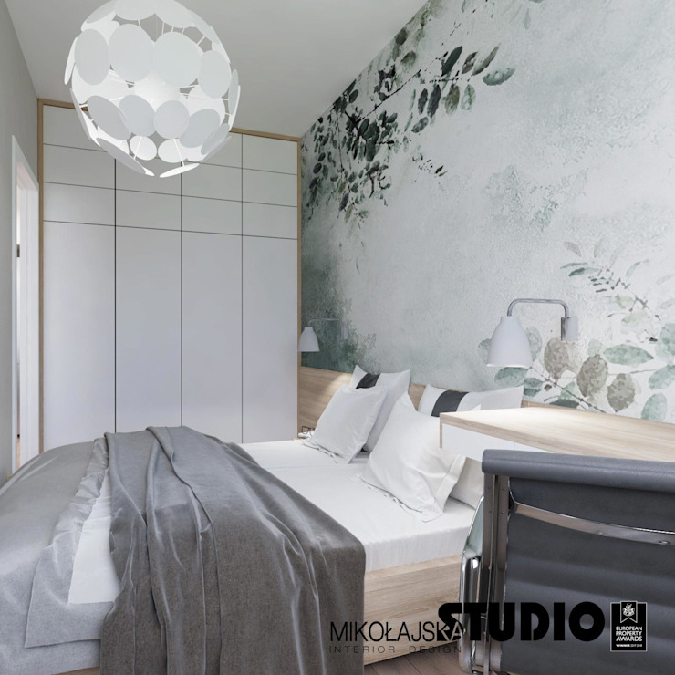Scandinavian style bedroom by MIKOŁAJSKAstudio Scandinavian