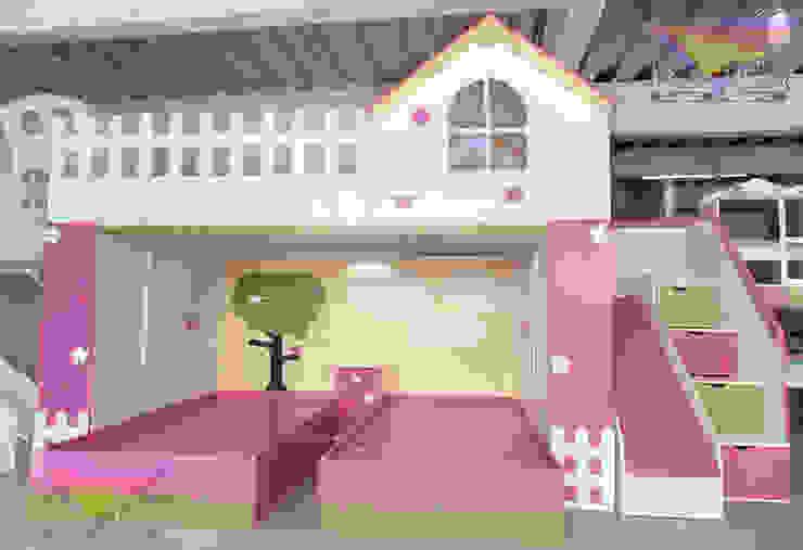 Preciosa y practica litera estilo jardin de camas y literas infantiles kids world Clásico Derivados de madera Transparente