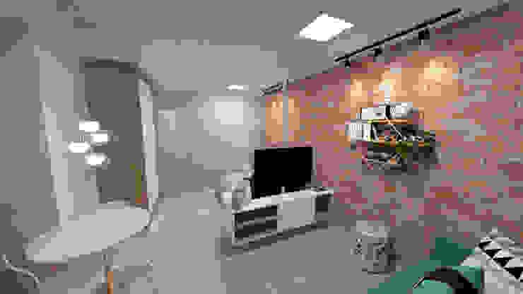 Apartamento Residencial - 24m²: Salas de estar  por Fareed Arquitetos Associados