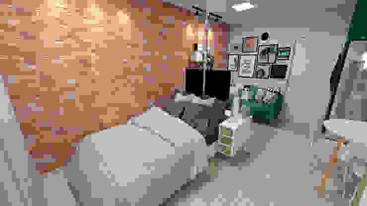 Apartamento Residencial - 24m² Quartos rústicos por Fareed Arquitetos Associados Rústico