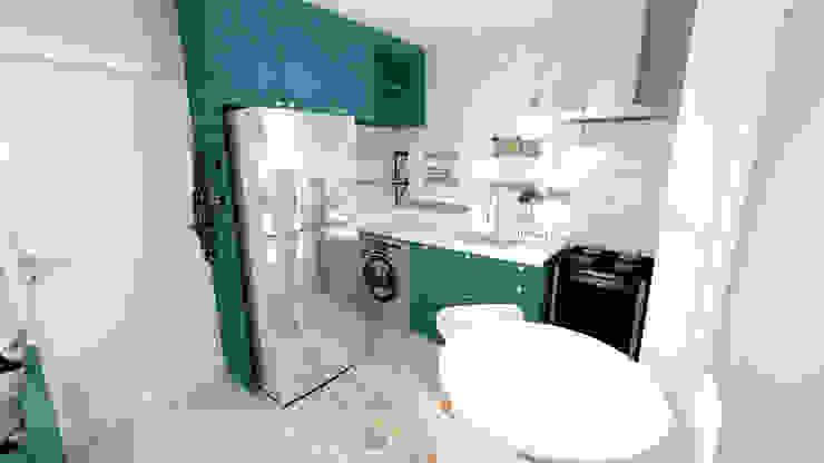 Apartamento Residencial - 24m²: Cozinha  por Fareed Arquitetos Associados
