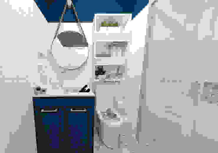 Apartamento Residencial - 24m²: Banheiros  por Fareed Arquitetos Associados