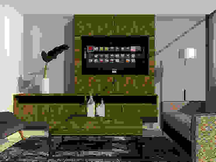 Modelo Salas modernas de LABEL Estudio Creativo Moderno Aglomerado