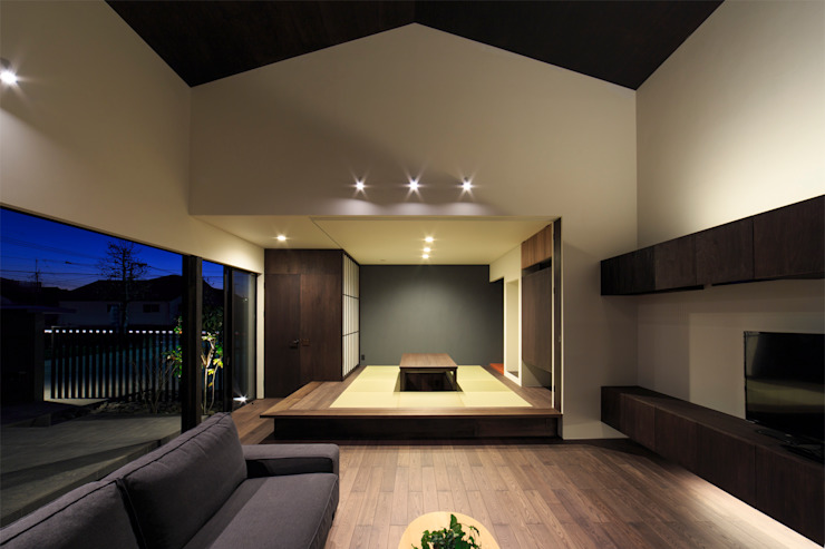 和室 川添純一郎建築設計事務所 モダンデザインの 多目的室