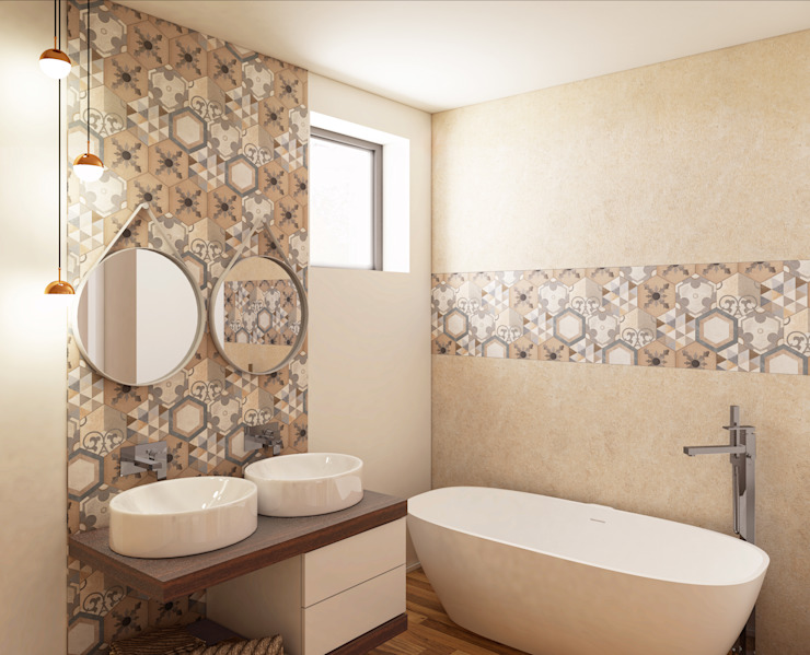 DA VINCI Luxury residence Bagno moderno di 2P COSTRUZIONI srl Moderno