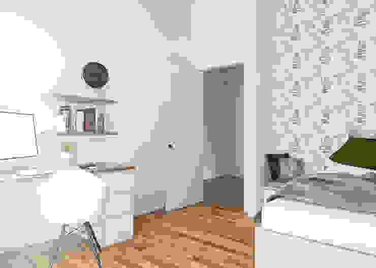 DA VINCI Luxury residence Camera da letto moderna di 2P COSTRUZIONI srl Moderno