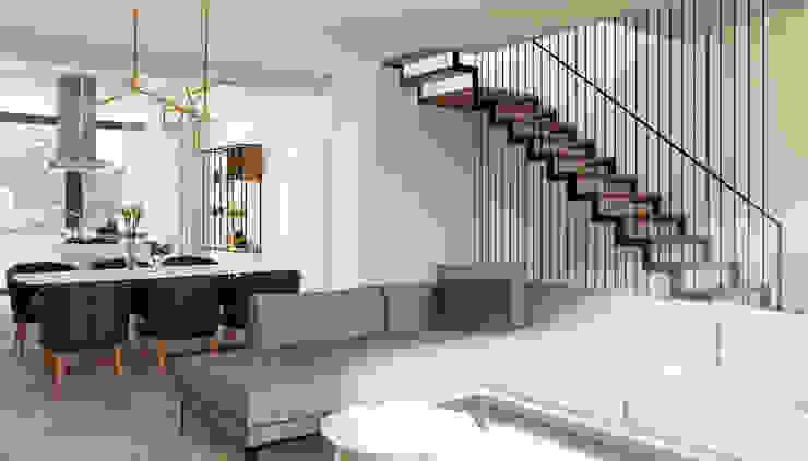 DA VINCI Luxury residence Soggiorno moderno di 2P COSTRUZIONI srl Moderno