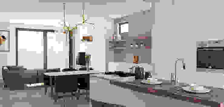 DA VINCI Luxury residence Cucina moderna di 2P COSTRUZIONI srl Moderno