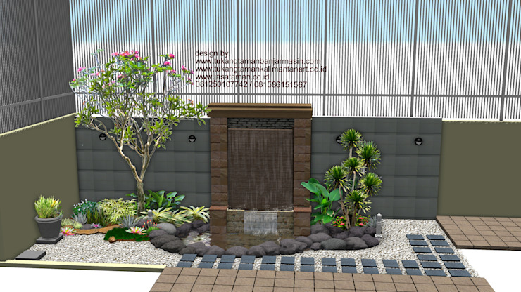 taman dalam ruangan Oleh TUKANG TAMAN SURABAYA - jasataman.co.id Minimalis