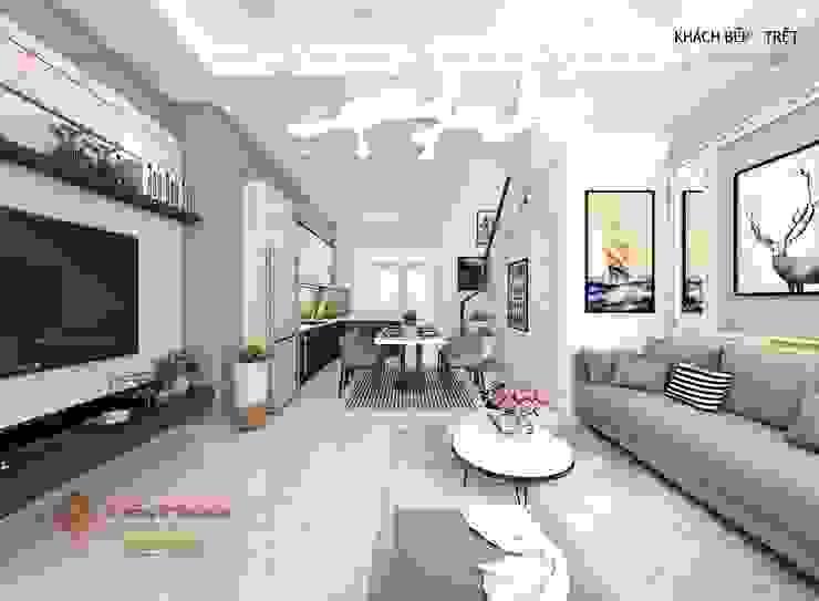 Salas de estar modernas por Công Ty TNHH Kiến Trúc Nội Thất Tiến Phước Moderno
