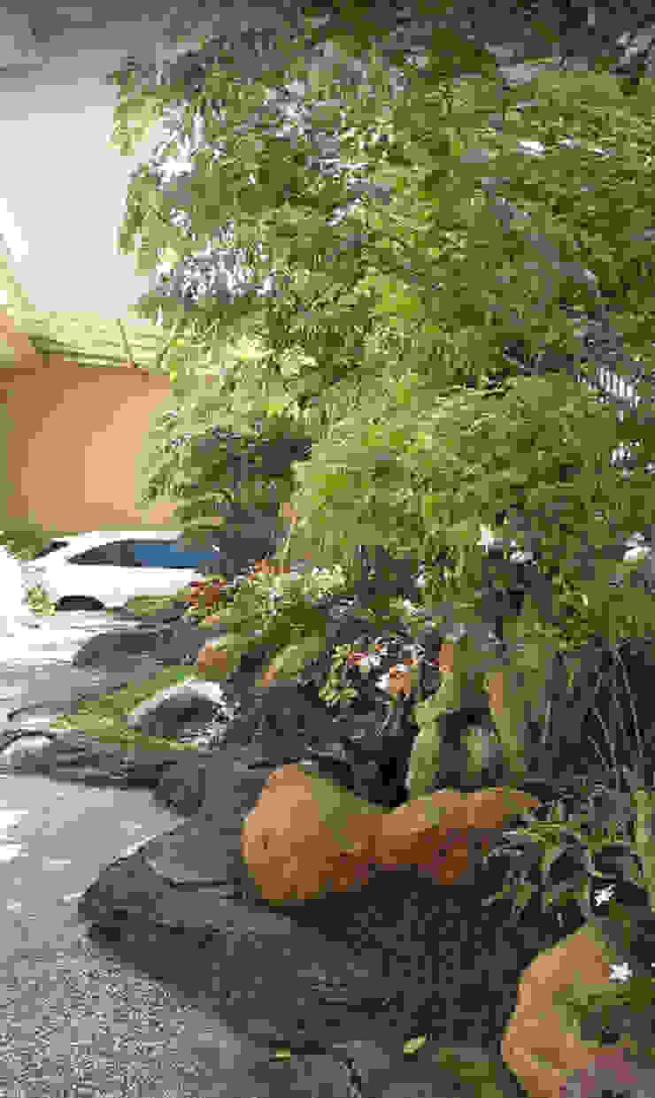 Taman halaman depan rumah atau kantor:country  oleh TUKANG TAMAN SURABAYA - jasataman.co.id, Country
