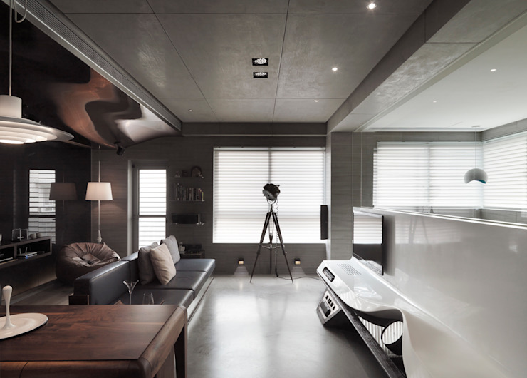 返 – 新北徐宅 现代客厅設計點子、靈感 & 圖片 根據 形構設計 Morpho-Design 現代風