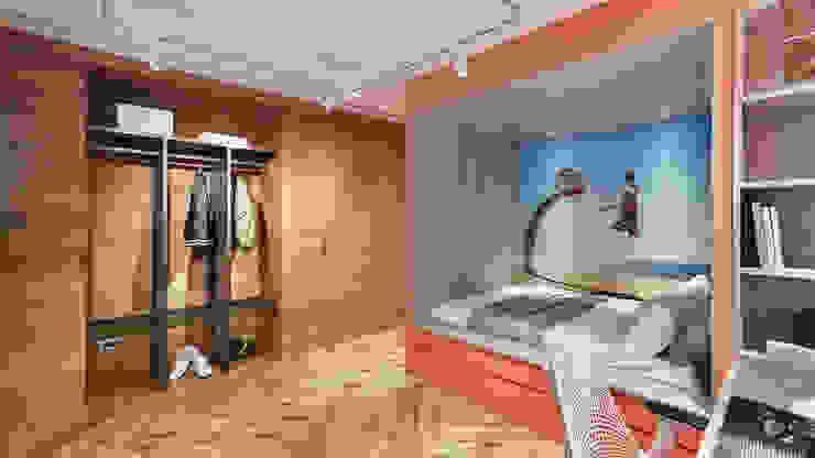 Dormitorios de estilo  de 形構設計 Morpho-Design,