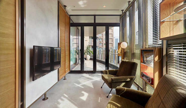 Ruang Media Modern Oleh 形構設計 Morpho-Design Modern