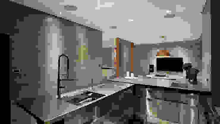 Grayscale 現代廚房設計點子、靈感&圖片 根據 形構設計 Morpho-Design 現代風
