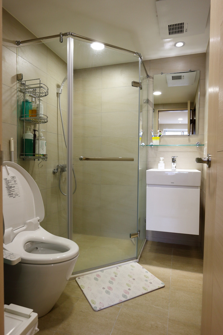 廚房、餐廳、書房、客廳都湊在一塊的熱鬧生活 青築制作 浴室
