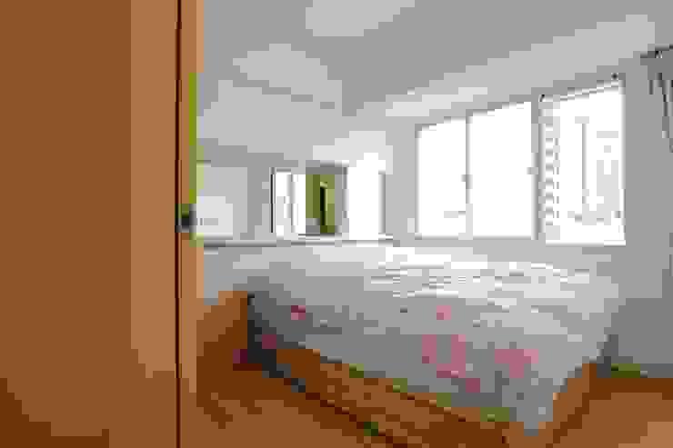 廚房、餐廳、書房、客廳都湊在一塊的熱鬧生活 青築制作 臥室