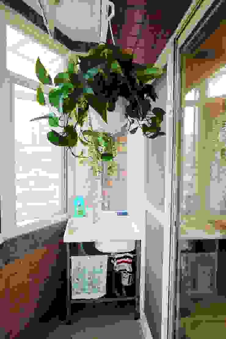 廚房、餐廳、書房、客廳都湊在一塊的熱鬧生活 青築制作 露臺