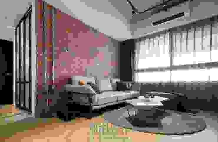 客廳紅磚牆 根據 湘頡設計 工業風 磚塊