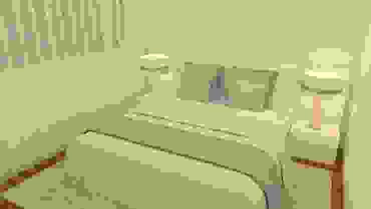 Um quarto feminino... Quartos modernos por Casactiva Interiores Moderno Madeira Acabamento em madeira