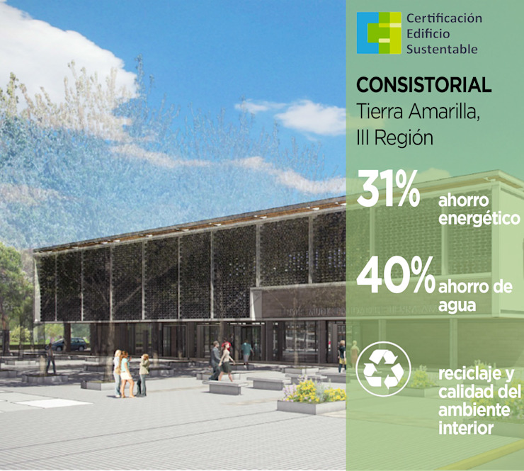 Edificio Consistorial Tierra Amarilla de Pasiva Moderno