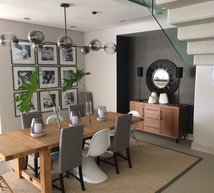 Green & Grey Simplicity Modern dining room by Sophistique Interiors Modern