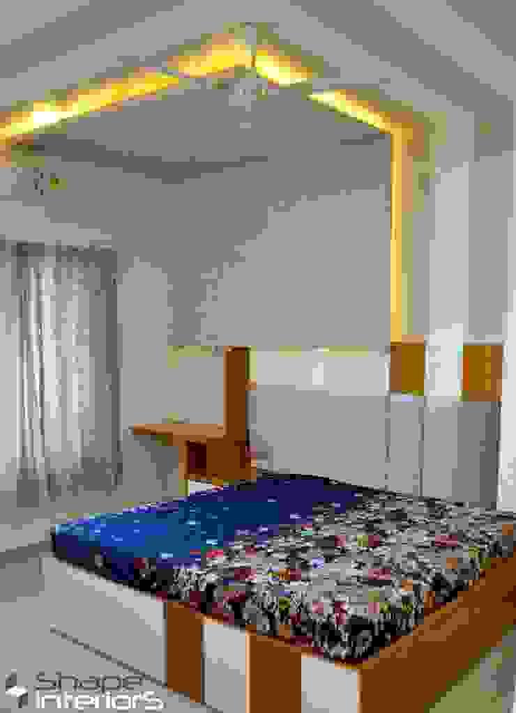 Master bedroom Interior Shape Interiors Modern style bedroom Engineered Wood Grey