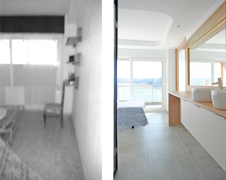 antes y después de Loft 26 Moderno