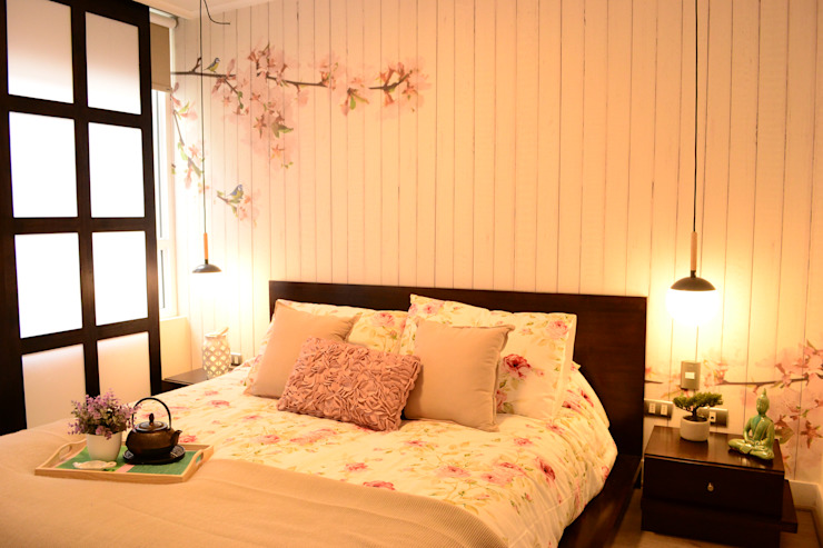 Estilo Japones en Santiago Dormitorios de estilo ecléctico de Kaa Interior | Arquitectura de Interior | Santiago Ecléctico