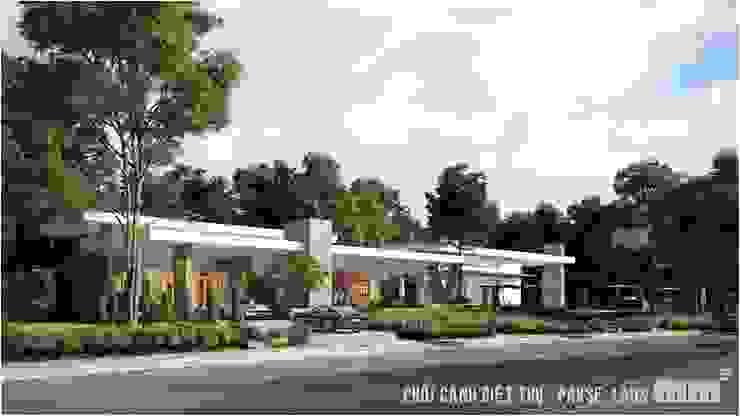 Thiết kế thi công biệt thự Pakse - Lào bởi Công ty Cổ Phần Milimet Vuông