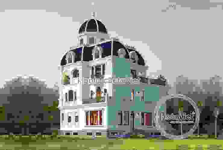 Phối cảnh mẫu biệt thự lâu đài kiểu Pháp đẹp lung linh (CĐT: Bà Huyền - Thái Nguyên) KT18077 bởi Công Ty CP Kiến Trúc và Xây Dựng Betaviet