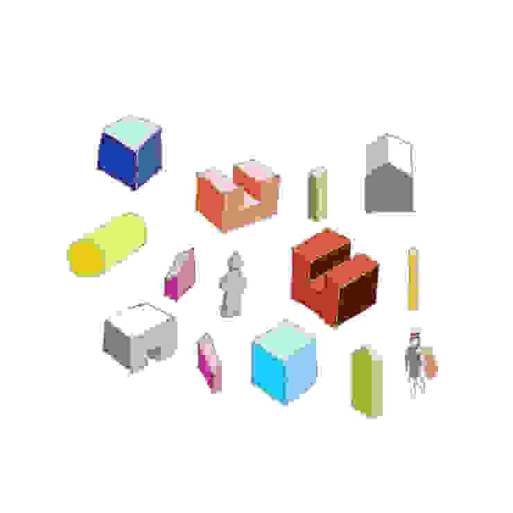 컨셉 스케치 - elements blocks: 에이오에이 아키텍츠 건축사사무소 (aoa architects)의 현대 ,모던