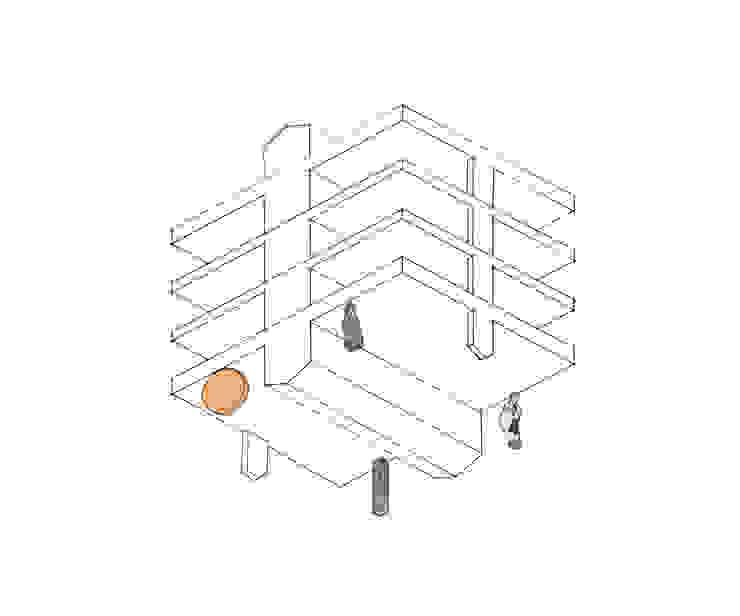 컨셉 스케치 - worms eyes view: 에이오에이 아키텍츠 건축사사무소 (aoa architects)의 현대 ,모던