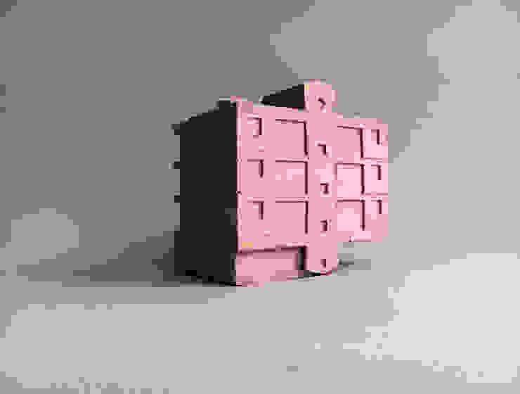 핑크 시멘트 모형: 에이오에이 아키텍츠 건축사사무소 (aoa architects)의 현대 ,모던