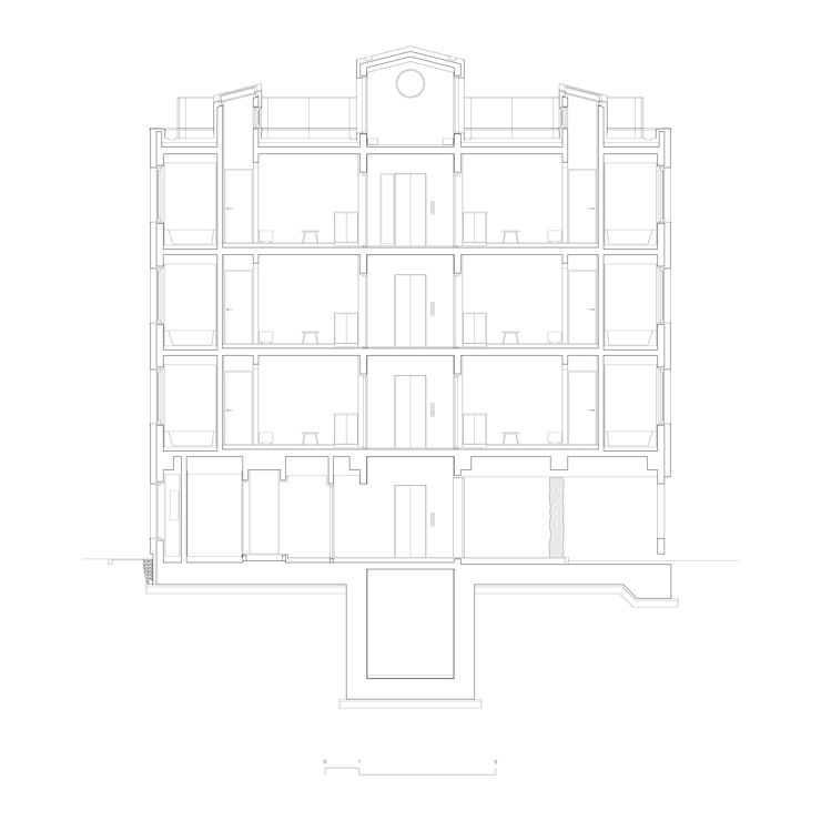 횡단면도: 에이오에이 아키텍츠 건축사사무소 (aoa architects)의 현대 ,모던