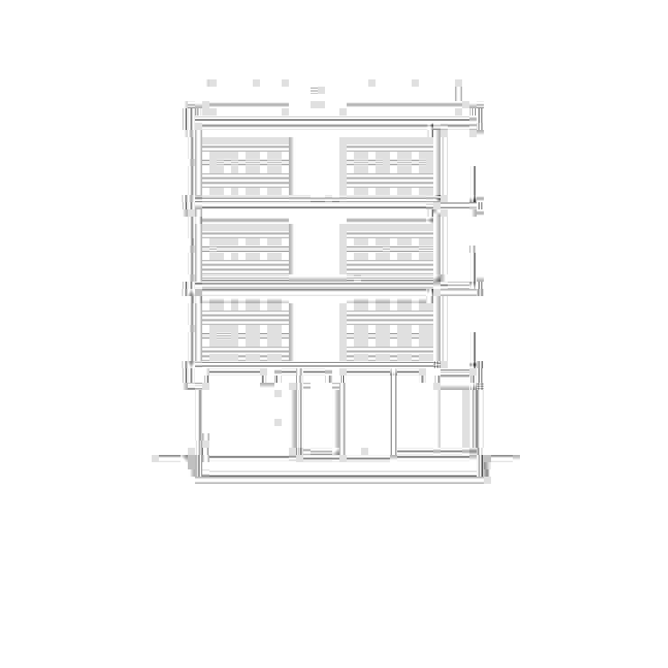 종단면도: 에이오에이 아키텍츠 건축사사무소 (aoa architects)의 현대 ,모던
