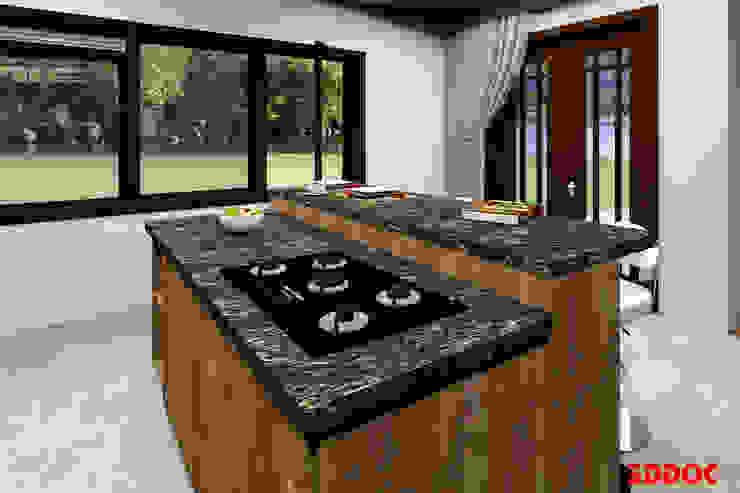 3DDOC ห้องครัว ไม้ Brown