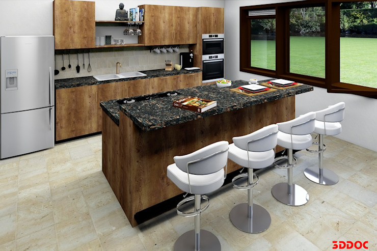3DDOC ห้องครัว Brown